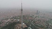 Anten kısmında sona gelinen Çamlıca Kulesi havadan görüntülendi