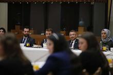 Cumhurbaşkanı Yardımcısı Oktay, genç diplomat adaylarıyla bir araya geldi