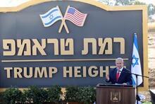 Golan'da skandal! 'Ramat Trump'ın temeli atıldı