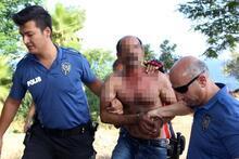 Bu görüntü Antalya'dan! Parasını yaktı, falezlere çıktı ve...