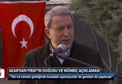 Bakan Akardan Fırat'ın doğusu ve Münbiç açıklaması