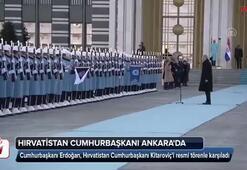 Hırvatistan Cumhurbaşkanı Ankarada