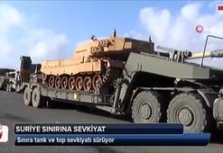 Suriye sınırına tank ve top sevkiyatı