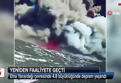 Etna Yanardağı çevresinde 4.8 büyüklüğünde deprem