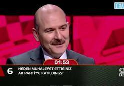 Bakan Soylu, Neden muhalefet ettiğiniz AK Partiye katıldınız sorusunu yanıtladı.