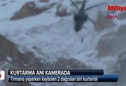 Kaybolan dağcılardan biri kurtarıldı