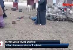 Rejim güçlerinden İdlib'e saldırı