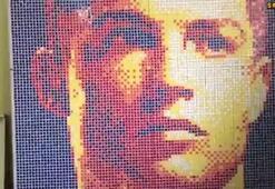 Küplerle Ronaldo portresi yaptı