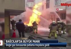 Bağcılarda panik Doğal gaz borusu patladı