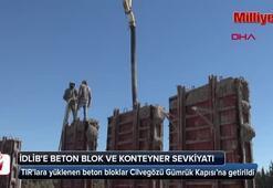 İdlibe beton blok ve konteyner  sevkiyatı