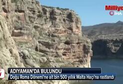 Adıyamanda bin 500 yıllık Malta Haçı çizimleri bulundu