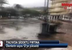 İtalyada fırtına yüzünden ölenlerin sayısı 12ye yükseldi