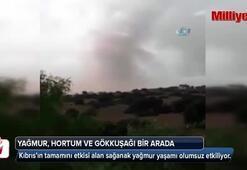 Kıbrıs'ta yağmur, hortum, gökkuşağı bir arada