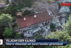 Adnan Oktarın villasındaki son durum havadan görüntülendi
