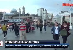 İstanbulda aniden bastıran yağmur etkili oldu