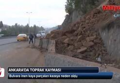 Başkent'te toprak kayması