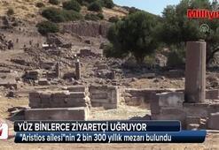 Aristios ailesinin 2 bin 300 yıllık mezarı bulundu
