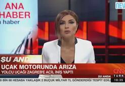 Türk yolcu uçağı Zagrebe acil iniş yaptı