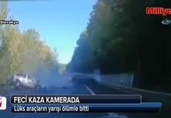 Lüks araçların yarışı ölümle bitti
