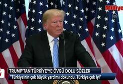 Trumptan Türkiyeye övgü dolu sözler