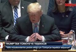 Trumptan Türkiyeye teşekkür