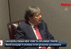 Çavuşoğlundan New Yorkta diplomasi trafiği