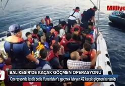 Ölüm yolculuğundan 42 mültecinin kurtarılma anı kamerada