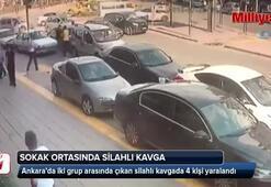 Ankarada sokak ortasında silahlı kavga