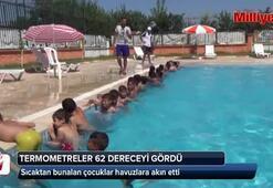 Termometreler 62 dereceyi gördü, çocuklar havuzlara akın etti