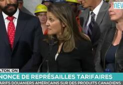 Kanada Dışişleri Bakanı Chrystia Freeland, basın toplantısı düzenledi