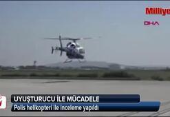 Helikopterle hint keneviri ekimi taraması
