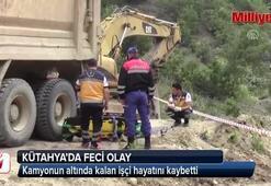Kütahyada kamyonun altında kalan işçi öldü