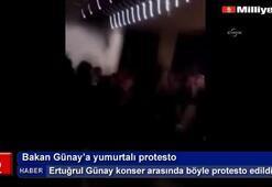 Bakan Günay'a yumurtalı protesto