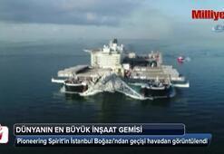 Pioneering Spiritin İstanbul Boğazı'ndan geçişi havadan görüntülendi