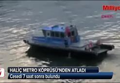 Haliç Metro Köprüsünden atladı