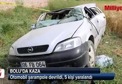 Boluda otomobil şarampole devrildi: 5 yaralı
