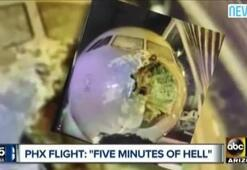 Çatlayan cama rağmen uçağı indirdi