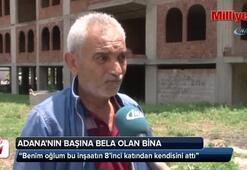 Adananın başına bela olan binadan vatandaşlar şikayetçi
