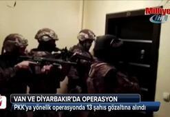 Van ve Diyarbakırda terör operasyonu: 13 gözaltı