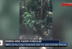 Sınırda genç kadını vurdular
