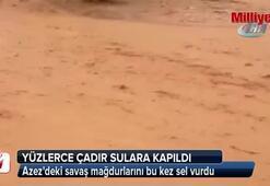 Azezdeki savaş mağdurlarını bu kez sel vurdu