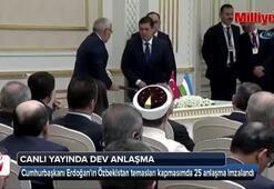 Türkiye ve Özbekistan arasında 25 anlaşma imzalandı