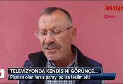 Pişman olan hırsız parayı polise teslim etti