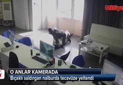 Bıçaklı saldırgan nalburda tecavüze yeltendi
