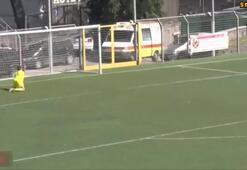 14 yaşındaki yetenek 50 metreden avladı