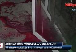 Atina'da Türk konsolosluğuna boyalı saldırı