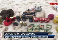 Erciş'te terör örgütüne ait 2 sığınak imha edildi