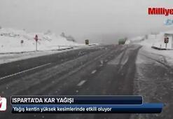 Ispartada kar yağışı etkili oluyor