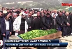 Hisarcıkta 2,5 yılda vefat eden 4üncü muhtar