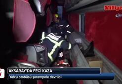 Şoför kalp krizi geçirdi, otobüs şarampole devrildi